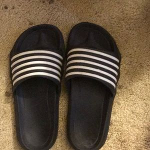 Pair of Adidas style slides size 10